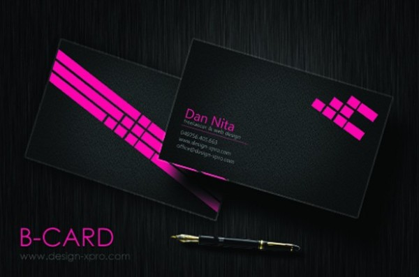 Slick black business card template set psd welovesolo slick black business card template set psd reheart Image collections