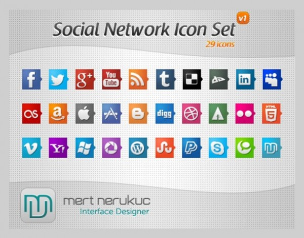 web unique ui elements ui tooltip stylish social icon set social set quality psd png original new networking modern interface hi-res HD fresh free download free elements download detailed design creative clean bookmarking 32px