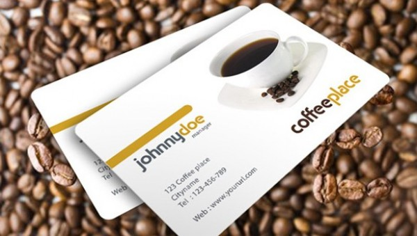Awesome coffee business card template welovesolo web unique ui elements ui template stylish quality psd presentation original new modern interface identity card modern coffee place business flashek Gallery