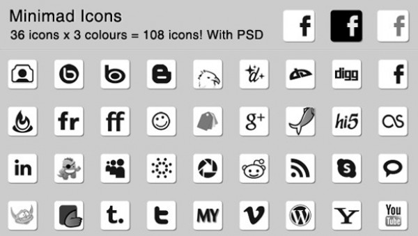 web unique ui elements ui stylish social icons set social set quality psd pack original new networking modern minimal Minimad light interface icons hi-res HD fresh free download free elements download detailed design dark creative clean bookmarking