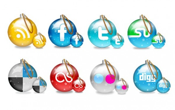 web unique ui elements ui stylish social icons set social christmas icons set quality psd original new modern interface icons hi-res HD fresh free download free elements download detailed design decorated creative clean christmas ornaments christmas