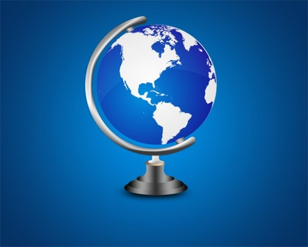Blue world map globe on metal stand psd welovesolo blue world map globe on metal stand psd gumiabroncs Image collections