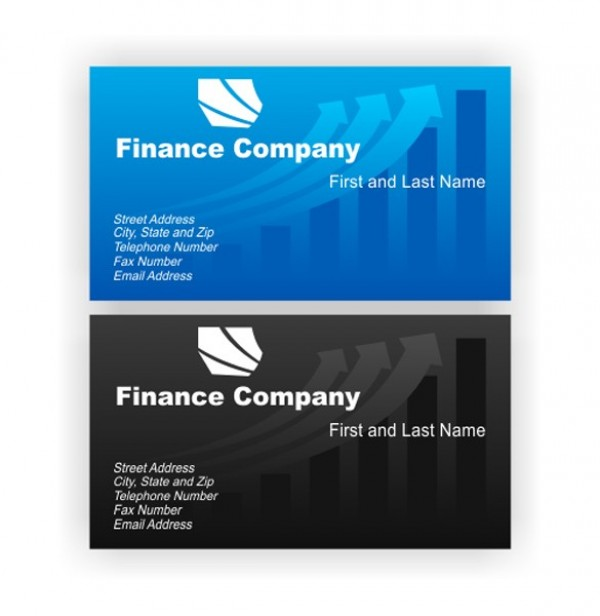 Finance Style Business Cards Vector Set Welovesolo