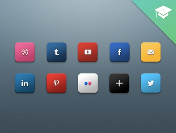 web unique ui elements ui stylish social icons set social icons social set rounded quality psd original new networking modern media interface icons hi-res HD fresh free download free elements download detailed design creative clean bookmarking