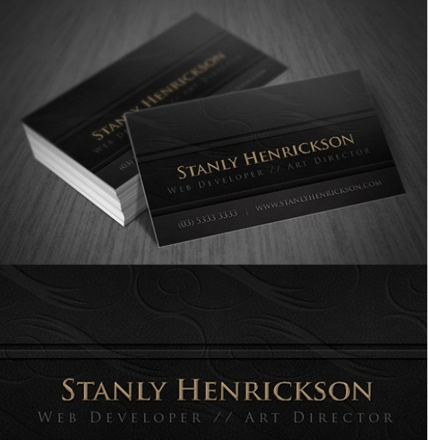 Deluxe leather business card template set welovesolo deluxe leather business card template set colourmoves