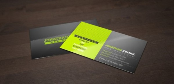 Corporate black green business card template psd welovesolo web unique ui elements ui template stylish quality psd professional presentation original new modern interface identity accmission