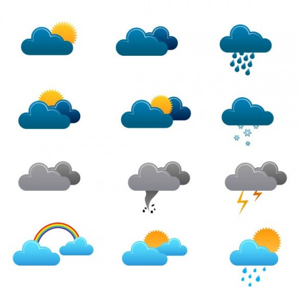 web weather icons set weather icons weather forecast vector unique ui elements sunny stylish rainy quality original new lightning interface illustrator icons high quality hi-res HD graphic fresh free download free EPS elements download detailed design creative cloudy clouds climate