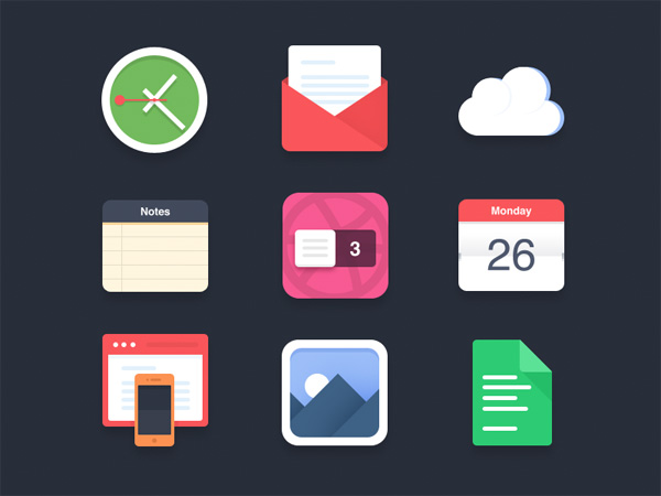 web unique ui elements ui stylish set quality psd paper original new modern mail interface icons hi-res HD gallery fresh free download free flat elements download detailed design creative cloud clock clean calendar browser