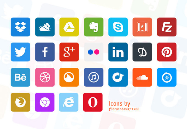 web unique ui elements ui stylish social icons set social icons simple set quality psd pack original new modern interface hi-res HD fresh free download free flat social icons set flat icons flat elements download detailed design creative colorful clean