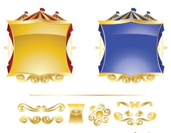 Vector Golden Circus Tent Frames - WeLoveSoLo