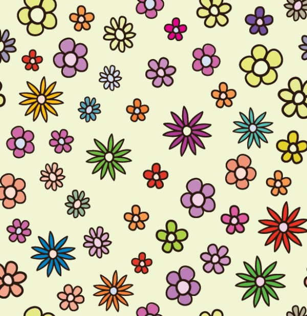 Small Floral Pattern Vector Background