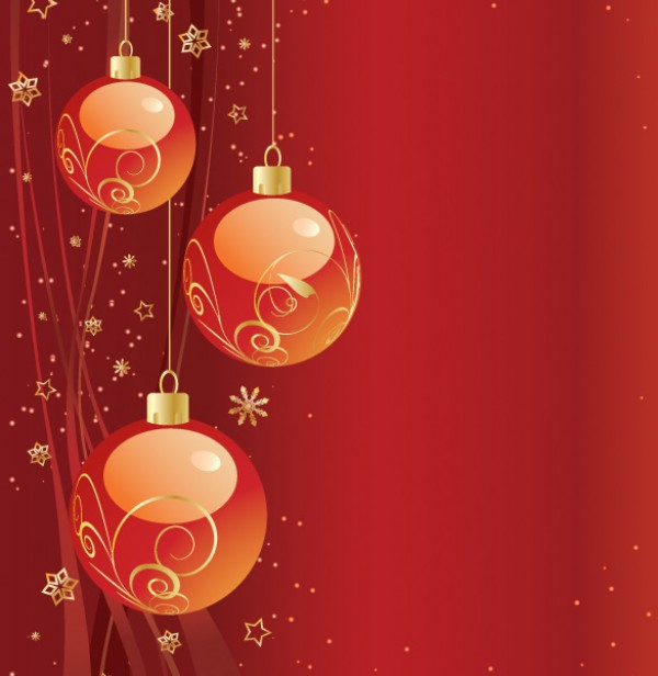 Vector Christmas Ornament Background