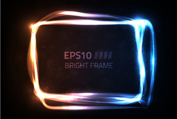 Electric Glowing Vector Message Frame - WeLoveSoLo