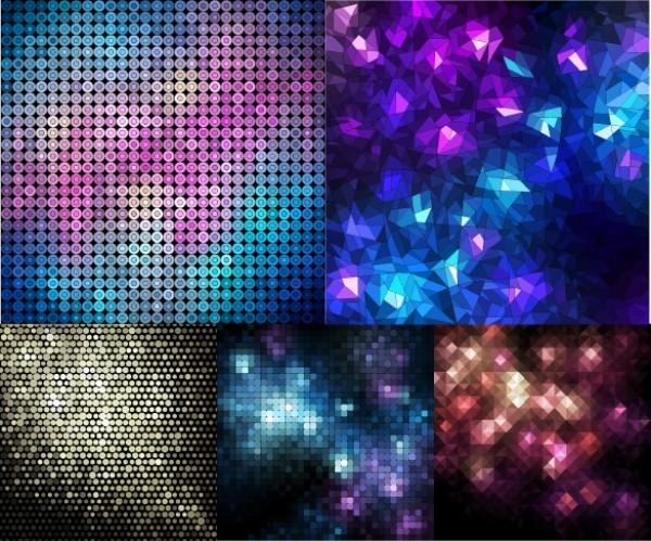 Reflective Light Abstract Mosaic Backgrounds
