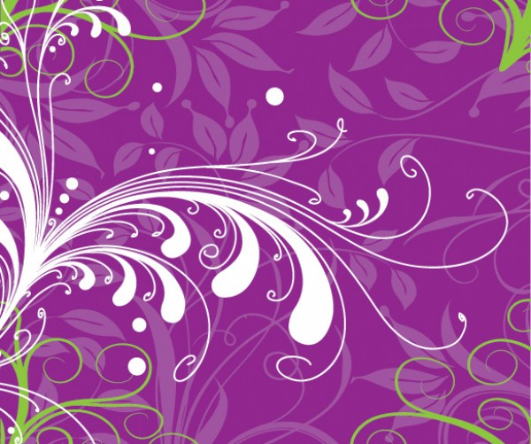 Purple Floral Nature Abstract Background
