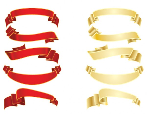 Vectors vector graphic vector unique royalty royal ribbons red quality Photoshop pack ornate original modern illustrator illustration high quality gold fresh free vectors free download free download decorative creative banners background AI