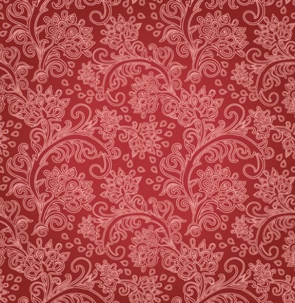 Floral Vintage Pattern Vector Background