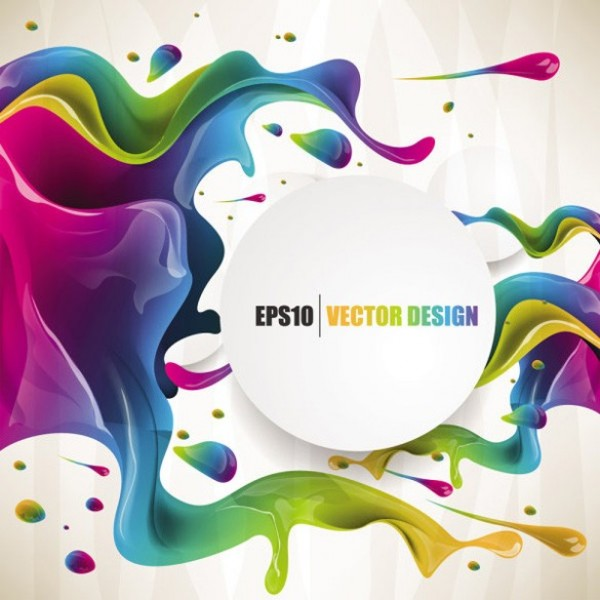 Rich Flowing Colors Abstract Vector Background Welovesolo