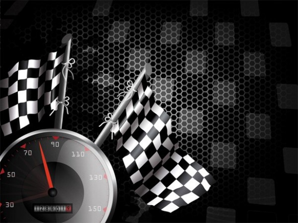 checkered flag racing vector background