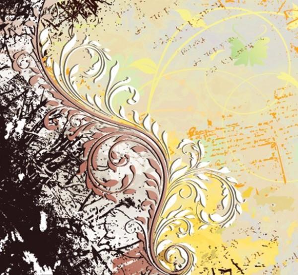 Vintage swirl background pattern