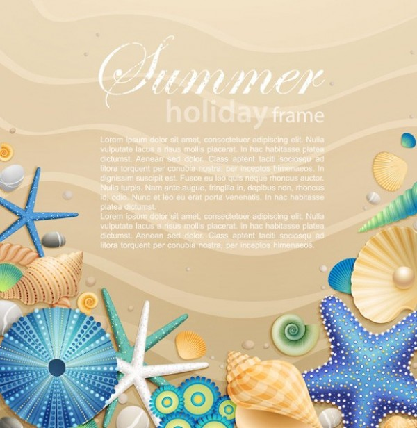 web vector unique stylish starfish shells seashells sandy beach sand quality original new illustrator high quality graphic fresh free download free download design creative beach background