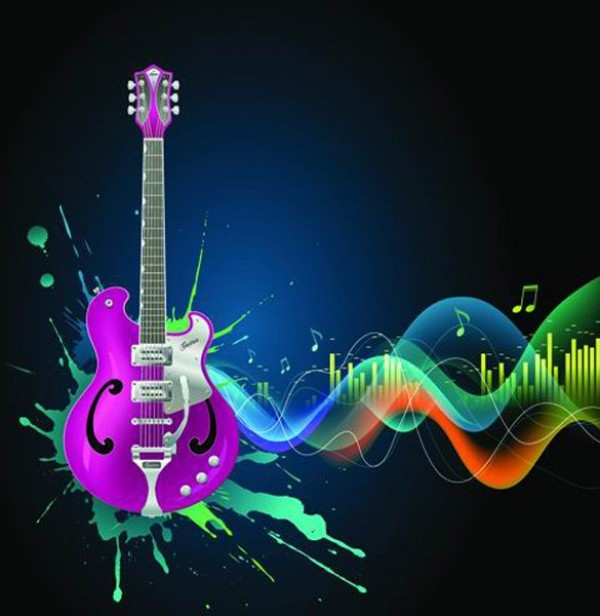 Cool Music Splash Guitar Vector Background Welovesolo