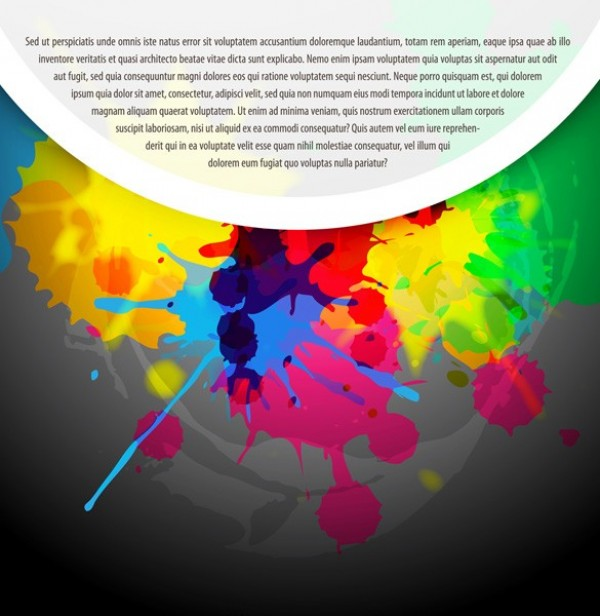 Fun Paint Splashes Vector Background - WeLoveSoLo