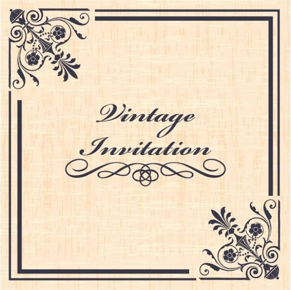 Vintage ornamental vector invitation welovesolo web vector unique ui elements stylish quality ornamental original new invitation interface illustrator high quality hi stopboris Image collections