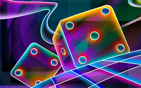 Cosmic Dice Abstract Background JPG