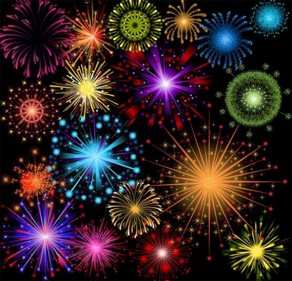 web vector unique stylish quality original light illustrator high quality graphic fresh free download free Fireworks explosions download display design creative colorful color celebration background