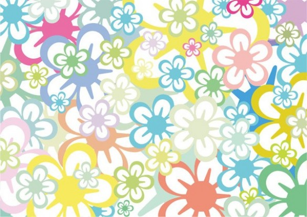Web Vector Unique Stylish Spring Retro Quality Original Illustrator High Graphic Fresh Free Download Floral Abstract Background