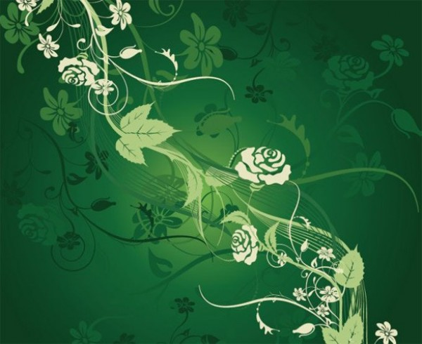 Web Vector Unique Stylish Roses Quality Original Illustrator High Green Graphic Fresh Free Download