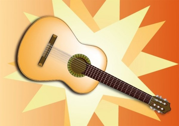web vector unique ui elements stylish star spanish guitar quality original new musical music interface illustrator high quality hi-res HD guitar graphic fresh free download free elements download detailed design creative classical guitar background AI acoustic guitar