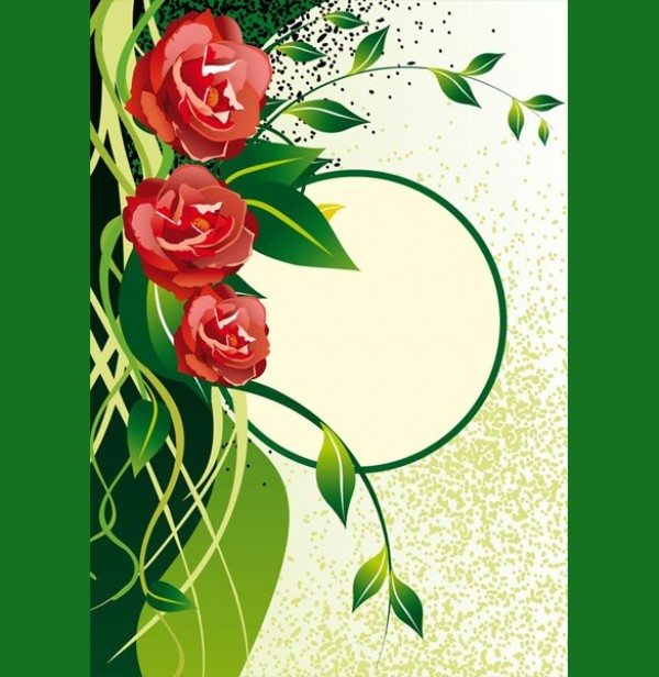 Green Nature with Roses Vector Background - WeLoveSoLo