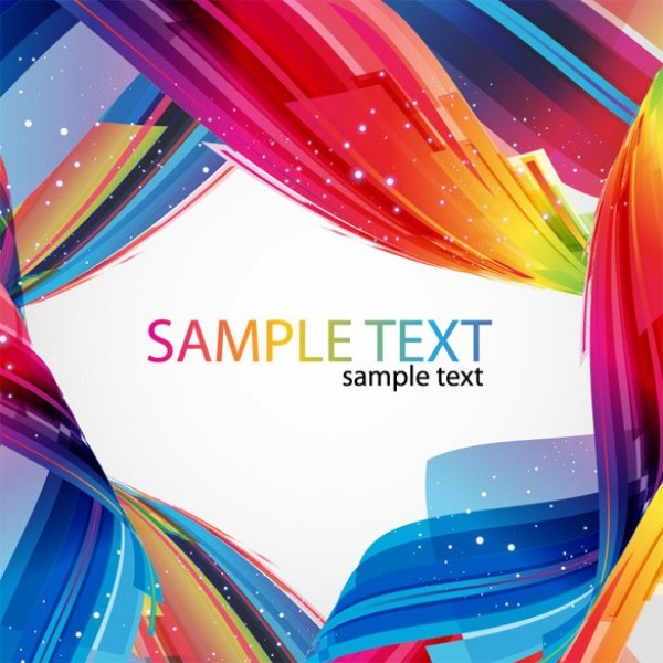 Vibrant Colors Abstract Frame Vector Background
