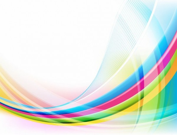 reflective rainbow wave abstract vector background