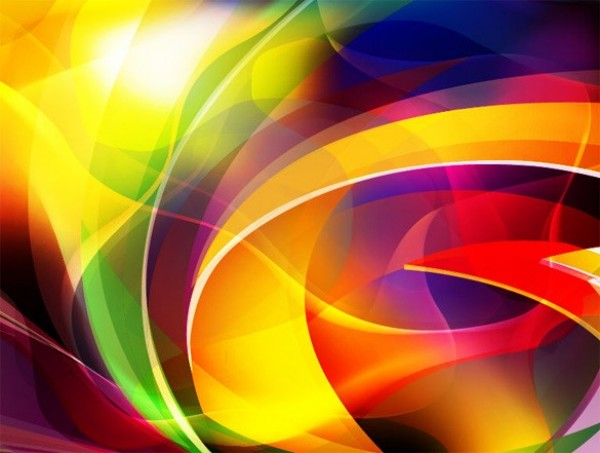 vibrant color curves abstract vector background