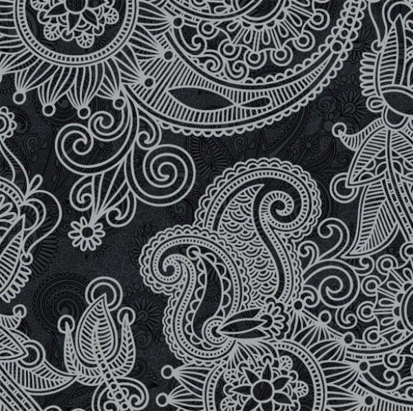 web vector unique stylish quality pattern paisley original illustrator high quality greytone grey graphic fresh free