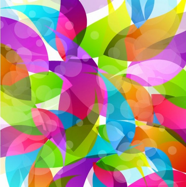 Vibrant Colorful Shapes Abstract Vector Background