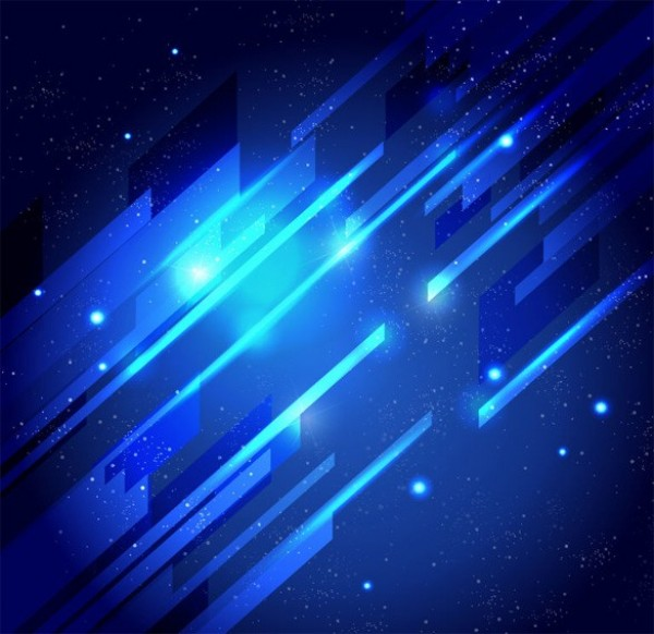 Deep Space Blue Lights Abstract Vector Background Welovesolo