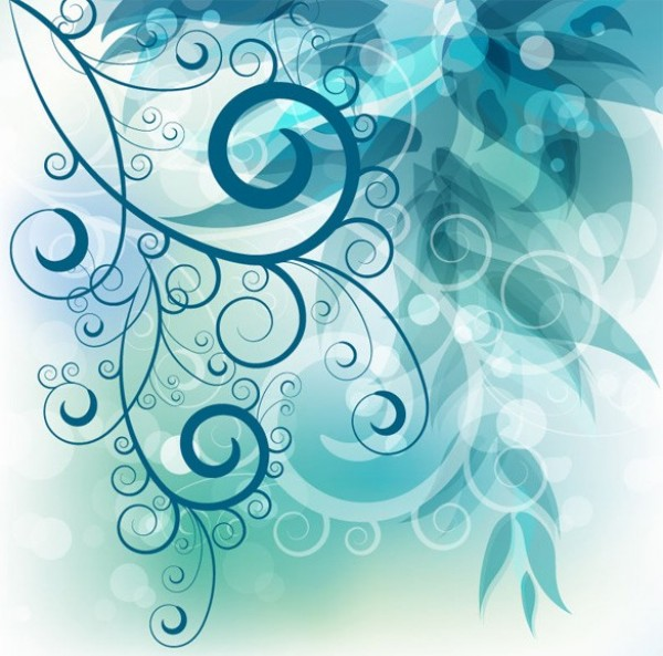web vector unique transparent swirl stylish quality original leaves illustrator high quality graphic fresh free download free floral EPS download design creative cool blue background abstract