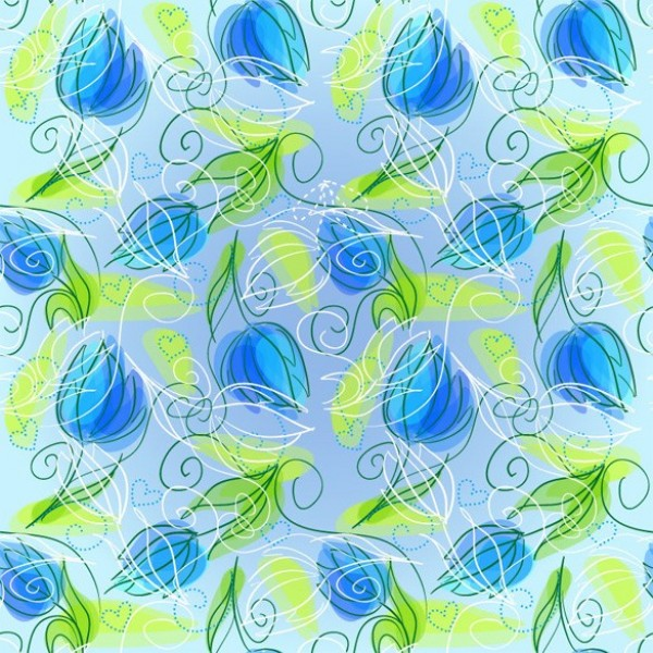 web vector unique stylish quality pattern original illustrator high quality hearts green graphic fresh free download free floral EPS download design creative blue background