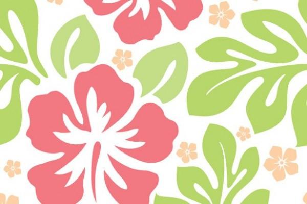 seamless aloha flower pattern vector background welovesolo