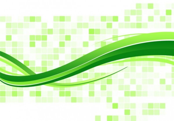 green mosaic wave abstract background psd