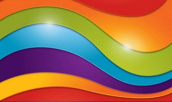 Bold Color Waves Abstract Vector Background