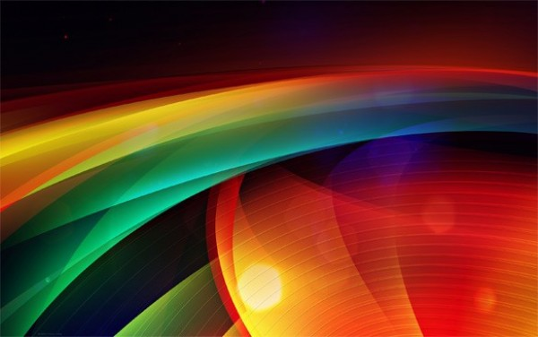 Vibrant Color Abstract Waves Background - WeLoveSoLo