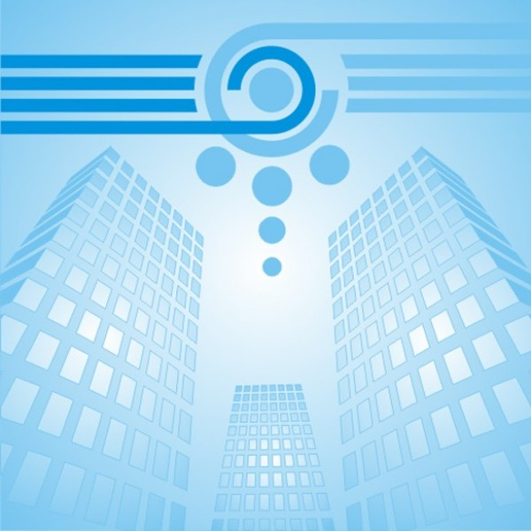 Blue Business Skyscraper Vector Background