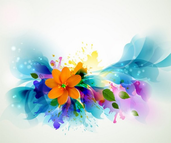 Colorful Nature Floral Abstract Vector Background Welovesolo