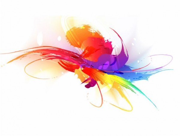 Artistic Colorful Paint Stroke Vector Background Welovesolo
