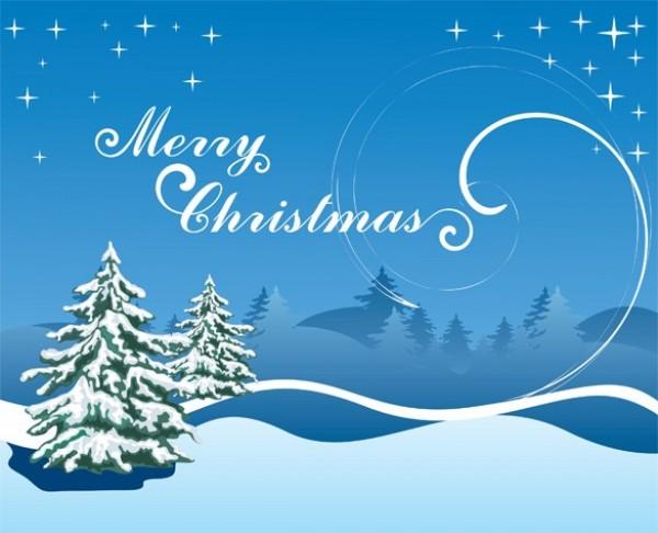 snowy christmas scene vector background welovesolo